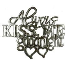 Kiss Me Goodnight Metal Wall Art - Croix des Bo... - $59.95