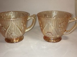 Iris & Herringbone Marigold Jeannette Iridescent Depression Cup - $11.88
