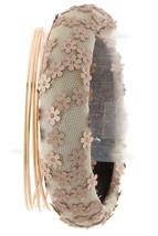 Chic Floral Lace Bangle Set, Taupe Bangle, Slim Gold Bangles, Set of 5 Bracelets