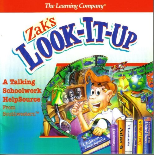 Zak's Look-It-Up - A Talking Schoolwork Help Source Windows Version 1.0 Cd Rom