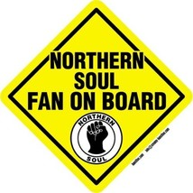 Northern Soul Fan On Board self cling window sticker 14cm Wigan Casino Mod - $4.39