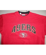 True Vintage LEE SPORT Red SEWN San Francisco 49ers NFL Sweatshirt Adult... - $27.86