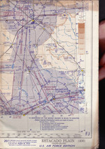 Estacado Plain (USA)  406 World Aeronautical Chart 1954 Air Force Edition - $13.00