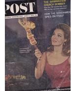 June 6 1964  Saturday Evening Post-Julie Newmar, Birmingham Church Bomber - $12.99