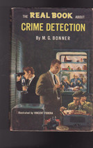 The Real Book About Crime Detection HC DJ Garden City Books MG Bonner - $12.03