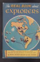 The Real Book About Explorers HC DJ Garden City Books Irvin Block - $12.03
