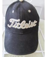 Titleist by New Era Black w/ Silver White Distressed 100% Cotton Basebal... - $11.60