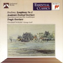 Brahms: Symphony 4 / Academic Festival Overture / Tragic Overture Cd image 1