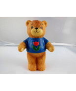 """1980 ENESCO PORCELAIN LUCY AND ME RIGGLETS TEDDY BEAR 3"""" TALL blue shirt... - $5.88"""