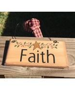 87643F - Faith Primitive Wood Sign  - $2.95
