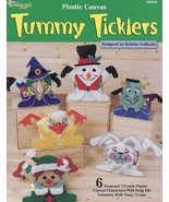 Tummy Ticklers Treat Holders Plastic Canvas Pattern 6 Designs Easter Hal... - $1.77