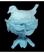 Blue Westmoreland Glass Robin Covered Animal Di... - $29.95
