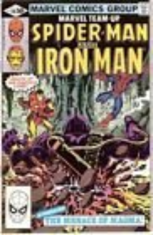 110 Oct Marvel Team Up Spider-Man and Ironman Comic Book