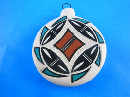 """Hand Painted and carved etched 3""""  Artist Initi... - $12.46"""