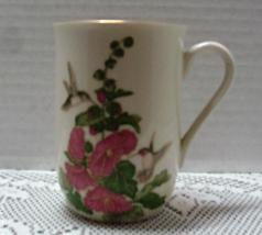 Vintage OTAGIRI Hummingbird & Holly Hocks Coffee Mug - $8.00