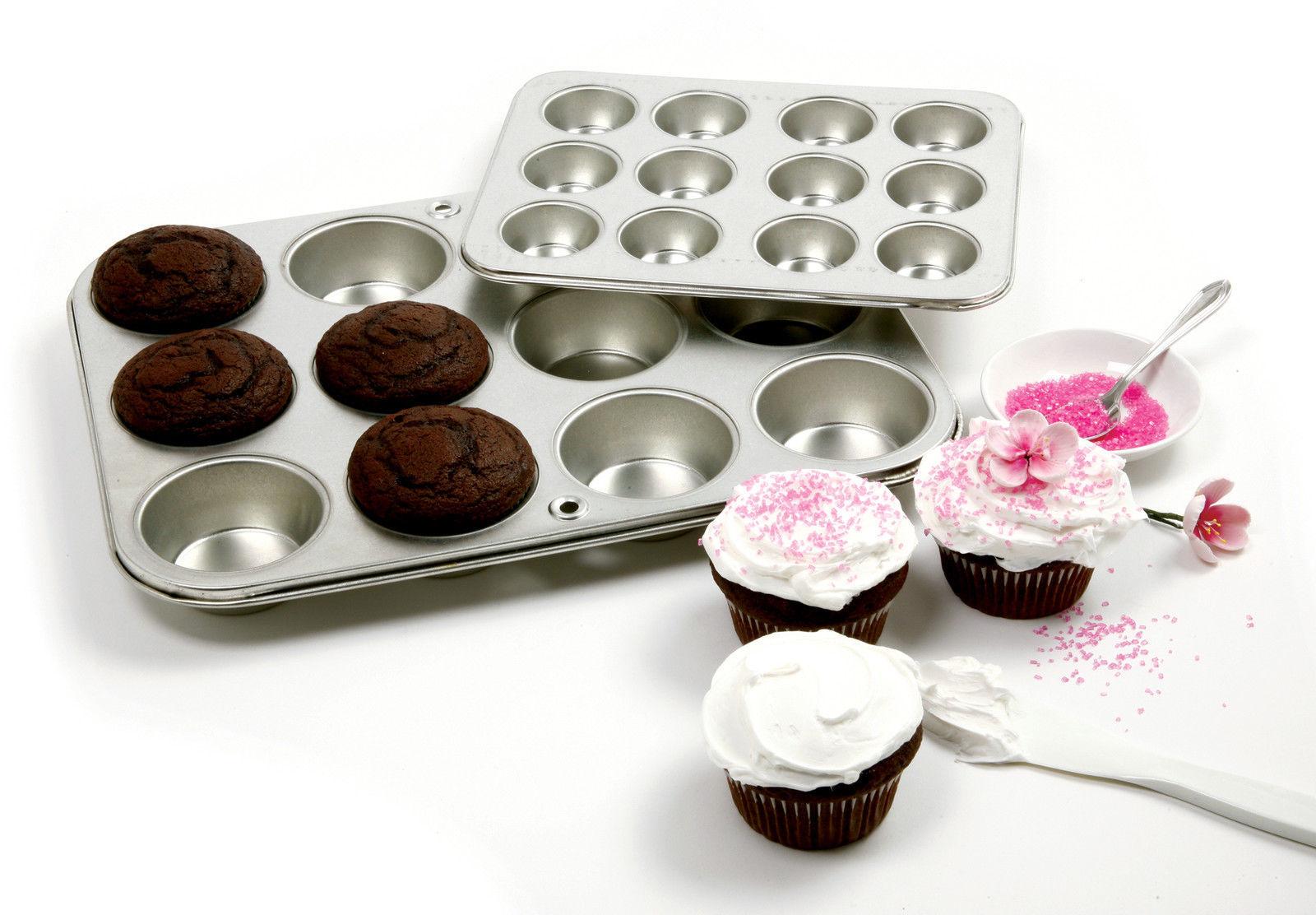 NORPRO 3770 Heavy-Duty Gauge Tin Muffin Cupcake Pan 12 Cup