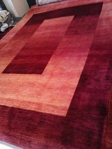 Persian Kashkui gabbeh rug modern red 8x11 quality luribat hand knotted Iran new - $8,577.36