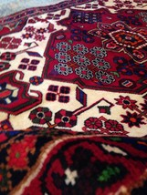 """Spectacular Tribal Authentic Persian Rug TribalHand Knotted Wool 3.'7"""" X 5'. 3"""" - $381.15"""