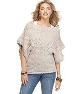 Jessica Simpson Women's Boat Neck Sweater Dark Purple X-Large - $34.99