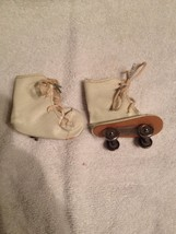 Vintage Off White Leather Doll Skates See note - $7.25
