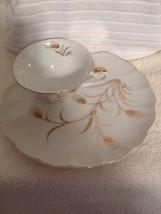 Lefton Tea Cup and Dessert Plate Wheat Pattern Design  - $5.00