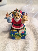 Vintage Applause Bears In Toy Land Santa Ornament  - $6.80