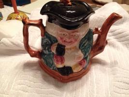 Vintage Staffordshire England Shorter double faced tea pot  - $25.25