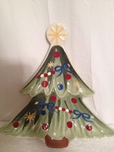 """Longaberger Pottery Christmas Tree Serving Platter """"All The Trimmings"""" - $20.57"""