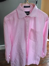 NAUTICA MENS PINK CHECKERED BUTTON UP SHIRT - $13.99