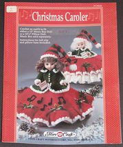 Christmas Caroler FCM224 - Crochet Dress Pattern for Music Box or Pillow Doll - $8.99