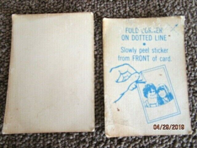 1978 Topps Mork & Mindy #1 & Three's Company Card For One Price
