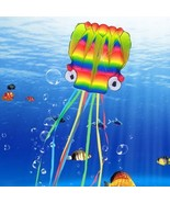 Large Octopus Kite Rainbow Adults Kids 3D Flying Beach Toy Easy Parafoil... - $37.12