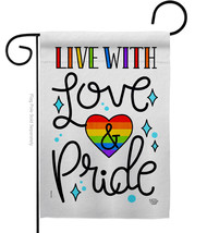 Live with Love - Impressions Decorative Garden Flag G192461-BO - $19.97