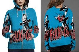 Felix The cat Hoodie Fullprint Women Zipper - $46.99+