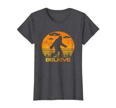 Dad Shirts - Retro Bigfoot UFO Shirt Abduction Sci-Fi Vintage Believe Wowen - $19.95+