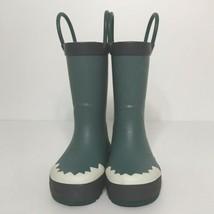 Carters Rain Boots Size 5 Little Boys Green Grey White - $21.78