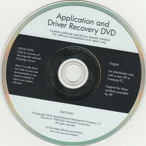 HP Application & Driver Recovery DVD software 2001 - $27.57