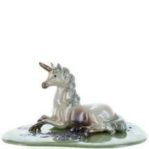 Hagen Renaker Unicorn Lying Ceramic Figurine