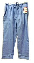 Scrub Pants XL Cherokee Ceil Blue Unisex Drawstring Nursing Medical Uniform New - $20.34