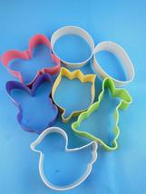 Wilton Easter Metal Cookie Cutters Set of Seven 7 Pastel Flowers Butterflies - $9.74