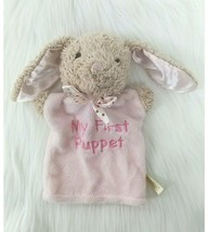"""9"""" Dan Dee Pink Bunny Rabbit My First Puppet Soft Plush Baby Toy Easter ... - $14.99"""