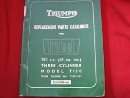 1968-1970 TRIUMPH 750 TRIPLE TRIDENT T150 REPLACEMENT PART MANUAL LIST C... - $119.67
