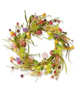 Easter Wreath Door Spring Wall Decoration Contemporary Hanging Art Egg F... - $50.00
