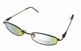 Coach Womens Ophthalmic Eyeglass Frame Modified Rectangle Metal, Sand Je... - $44.99