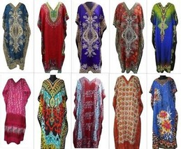 Wholesale Lot of  10 Pcs Beach Maxi Long Caftan, Free Size Kaftan, Casual Wear  - $41.73