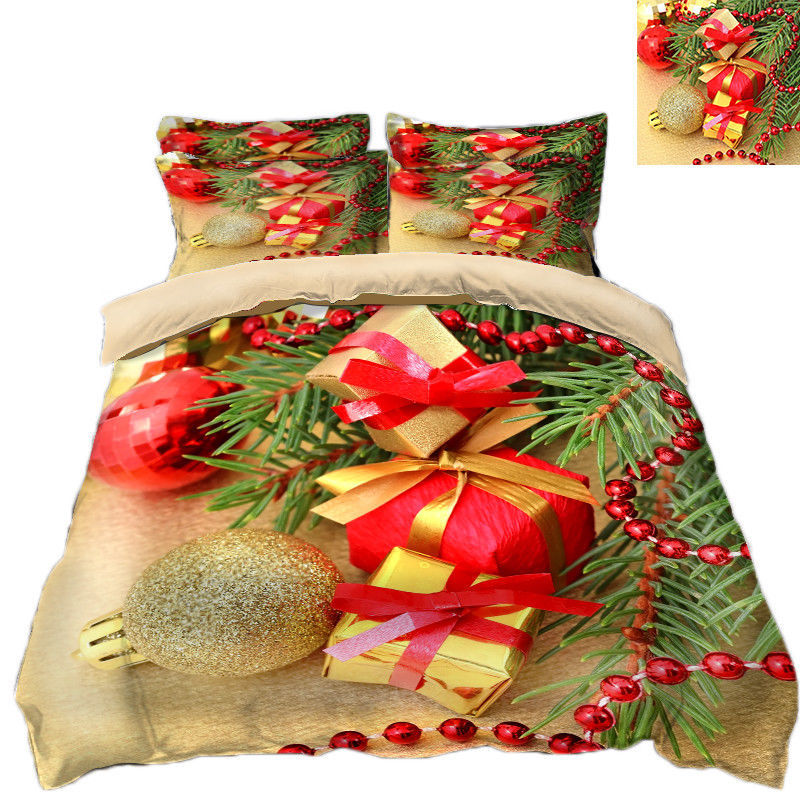 3D Christmas  Xmas 083 Bed Pillowcases Quilt Duvet Cover Set Single Queen King - $64.32 - $96.47