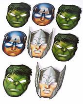 Epic Masks 8 Piece American Greetings Boys Avengers  - $10.99