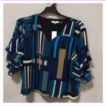 Calvin Klein Women's Layered Ruffled Sleeves Top image 3
