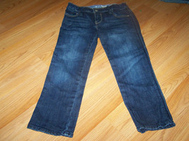 Girl's Size 7 Regular Gap Denim Jeans Skinny Dark Wash Adjust Waist EUC - $17.00