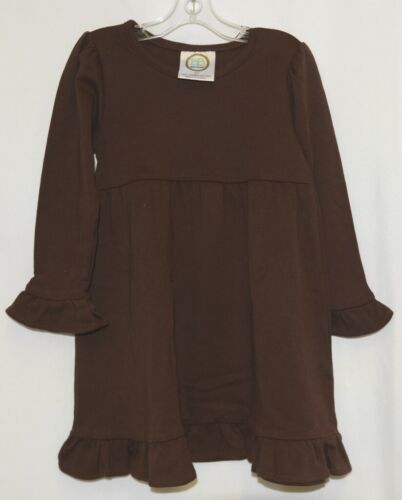 Blanks Boutique Brown Long Sleeve Empire Waist Ruffle Dress Size 2T